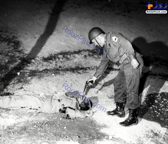 لحظه اعدام یکی از همراهان شهید طیب حاج رضایی/عکس