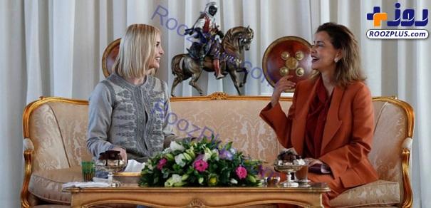 بوسیدن دستان دختر رئیس جمهور جنجال به پا کرد+تصاویر