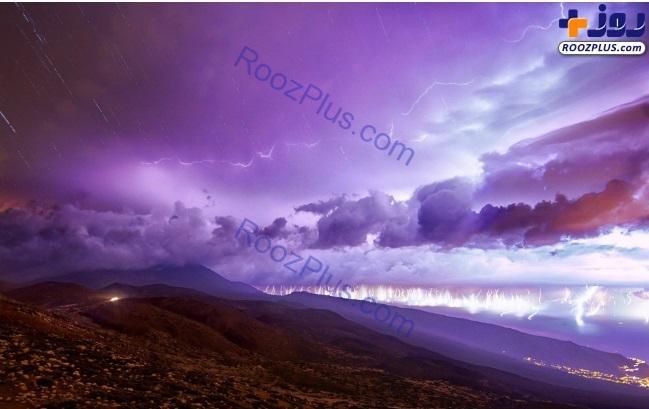 تصویر رعد و برقی ساخته شده از 200 عکس