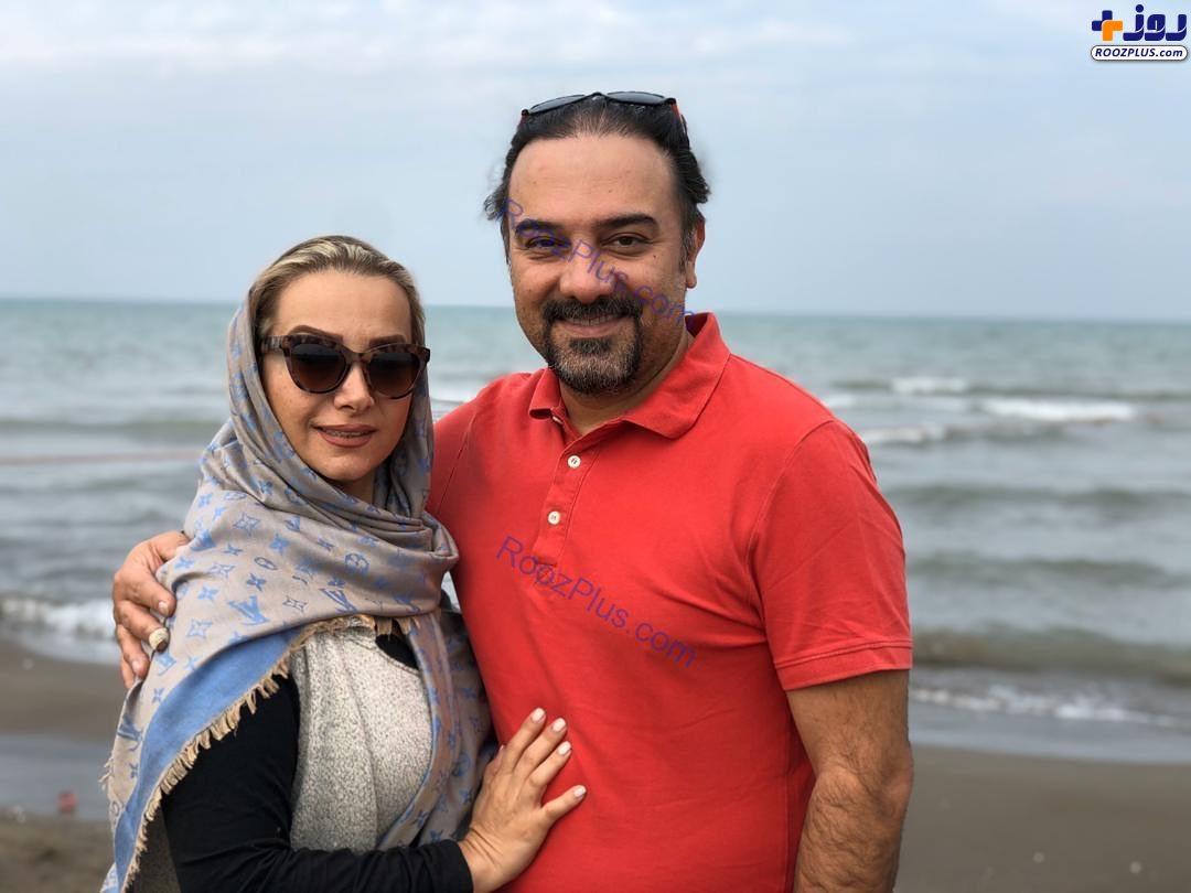 عاشقانههای برزو ارجمند و همسر جان +عکس
