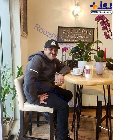مهران غفوریان در کافه های اروپایی +عکس
