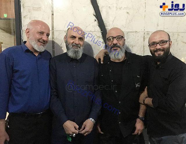 امیر جعفری در کنار سه برادرش +عکس