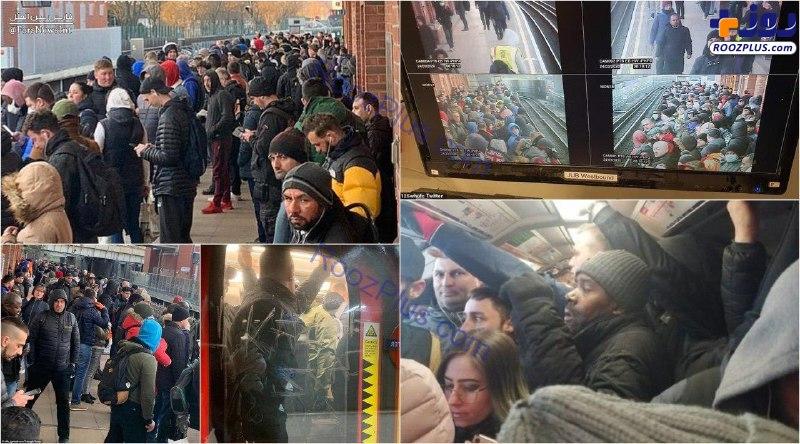 شلوغی مترو لندن در سایه کرونا +عکس