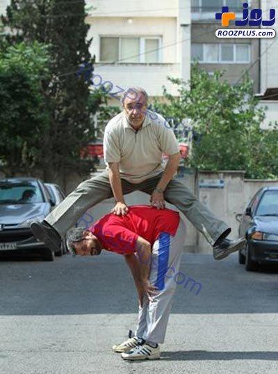 حرکات عجیب احمدزاده و شهریاری در خیابان! + تصاویر