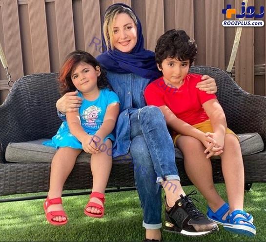 عکس/شیلا خداداد و فرزندانش سامیار و ساتین