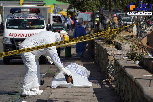 اجساد کرونایی کنار زبالهدانیها در خیابان!/عکس