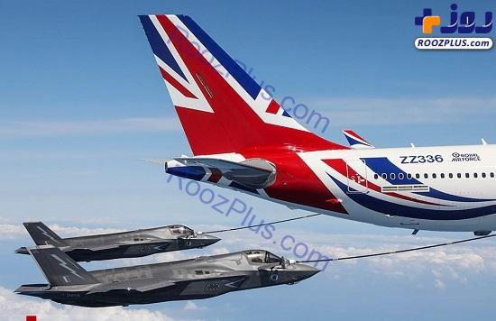 فرآیند سوخت گیری هوایی هواپیما+عکس