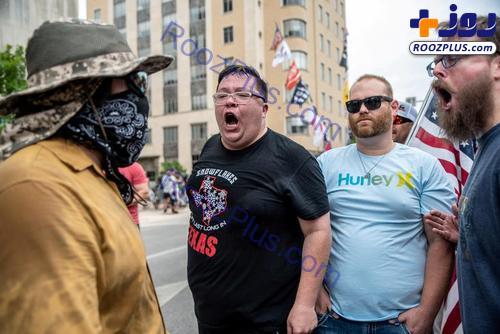تظاهرات با خودرویی عجیب علیه اجباری شدن ماسک/عکس