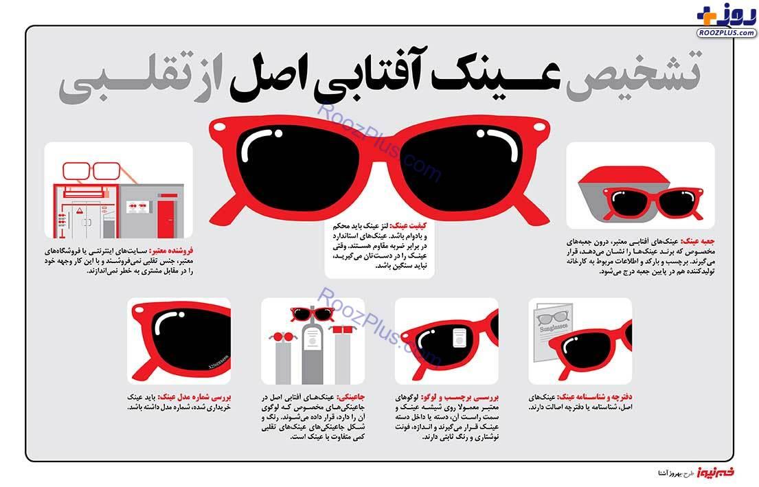 ۷ روش شناسایی عینک آفتابی اصل + اینفوگرافی
