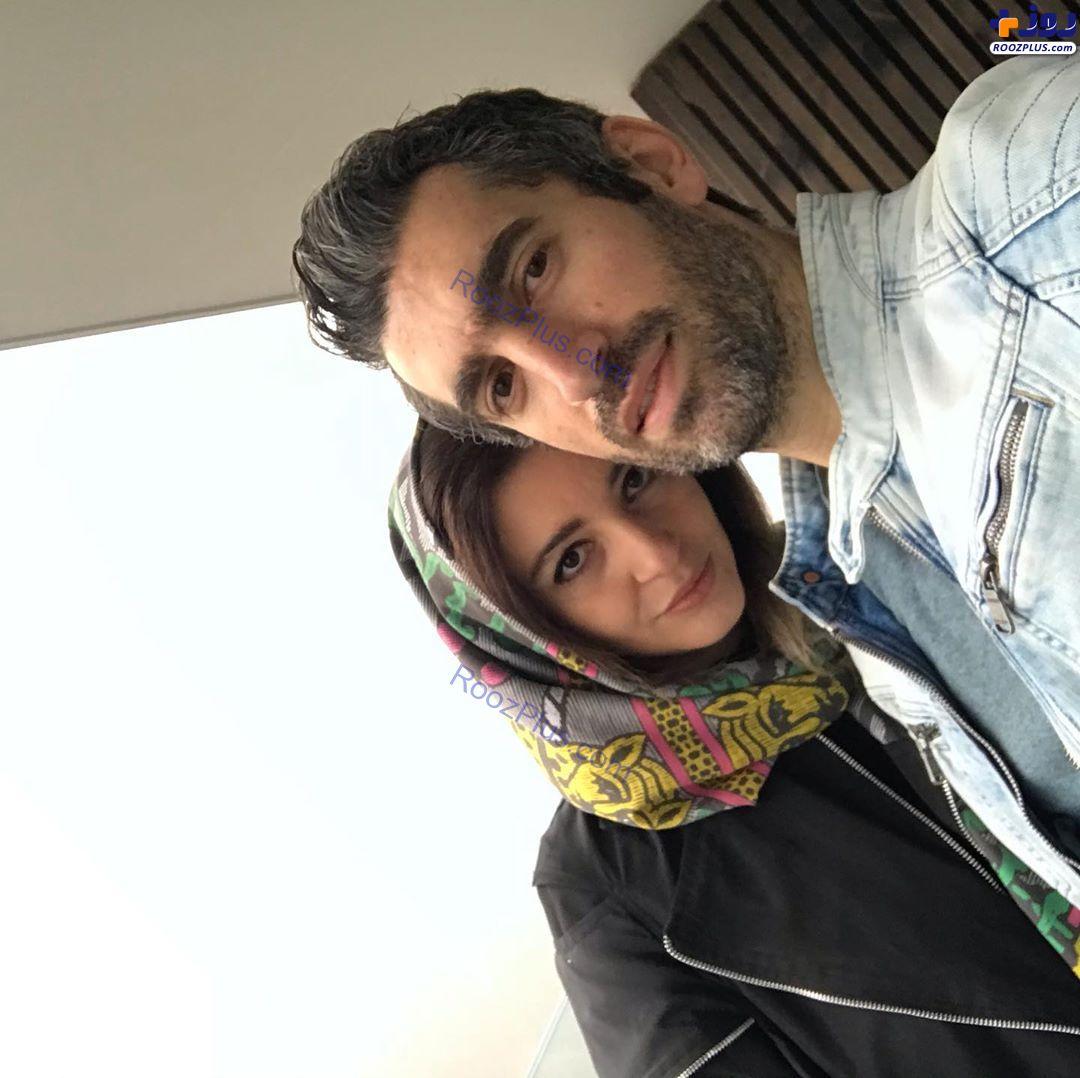 سلفی مجتبی جباری و همسرش +عکس