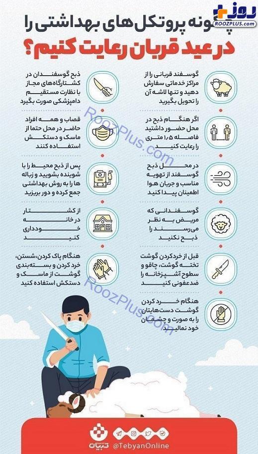 اینفوگرافیک/ چگونه پروتکلهای بهداشتی را در عید قربان رعایت کنیم؟