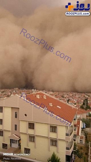طوفان شن در پایتخت ترکیه + تصاویر