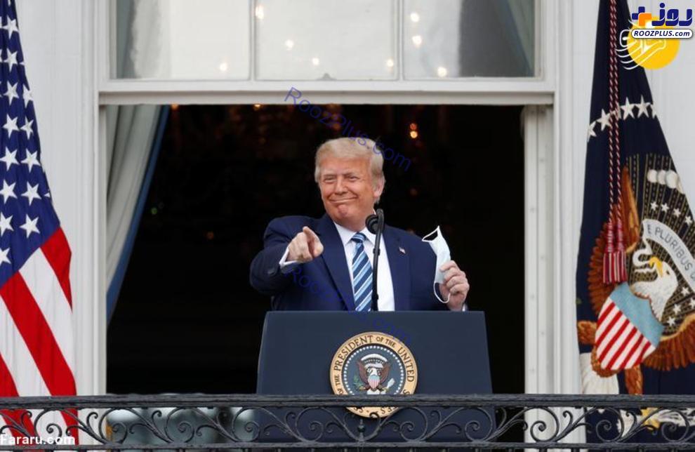 اولین حضور ترامپ بین هوادارانش بعد از ابتلا به کرونا +عکس