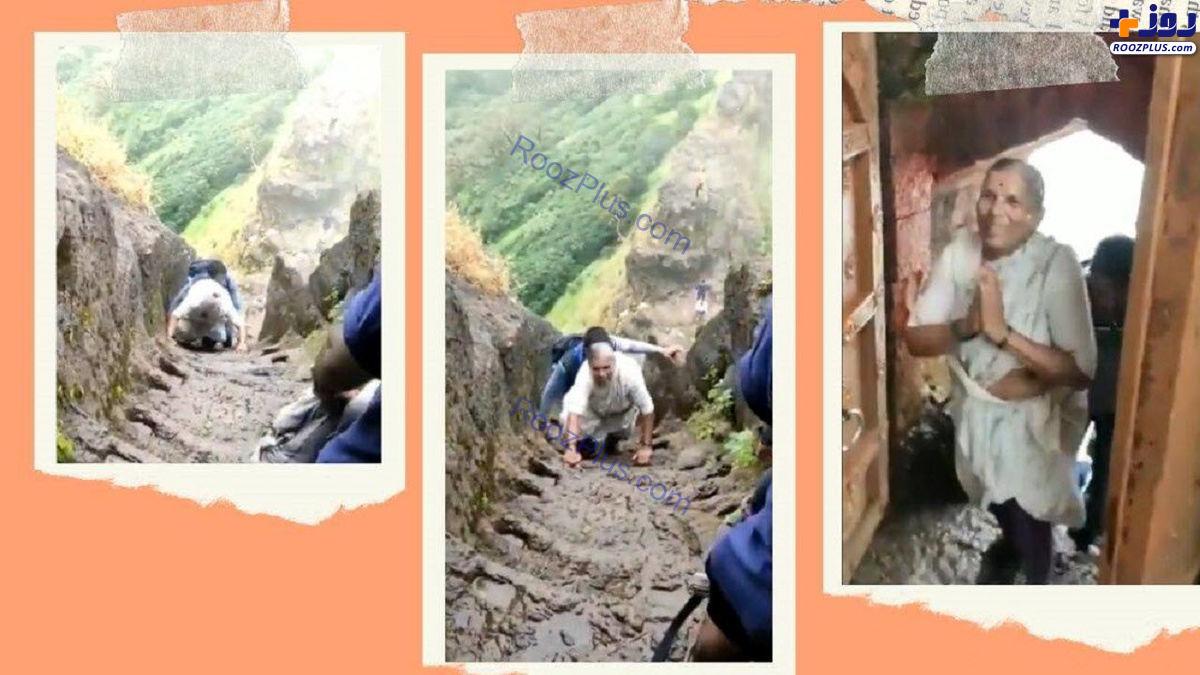 کوهنوردی زن ۶۸ ساله خبرساز شد/عکس