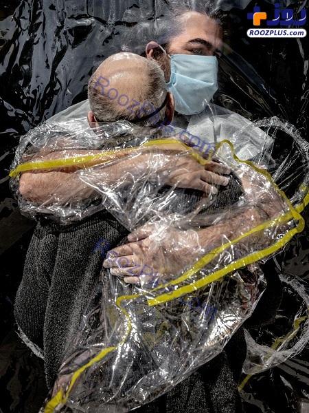 عکس/ ابتکاری برای در آغوش گرفتن عزیزان